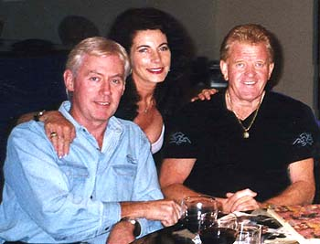 My great friends Robin Jolley, his wife Leonie with Bob Jones